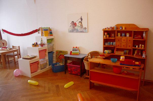 Eine Ansicht des Spielzimmers unserer Tagespflege in Braunschweig.