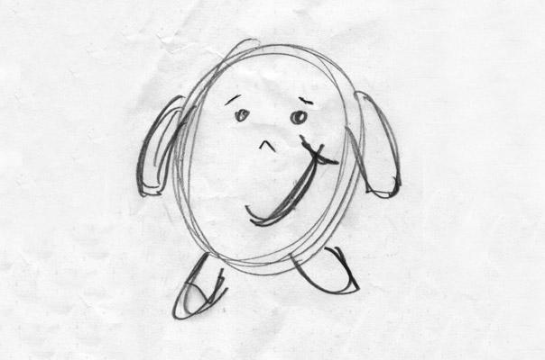 Ein Scribble unserer Tagespflege Figur TiQ!