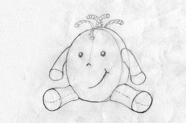 Eine Zeichnung unserer Tagespflege Figur TiQ!